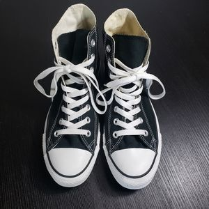 Classic Converse Black High Tops size 9